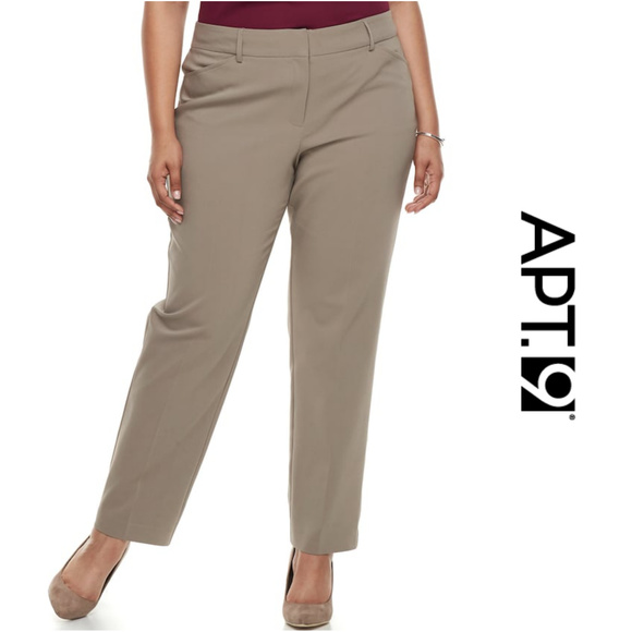 0847eb804fb Plus Size Modern Fit Straight-Leg Dress Pants 18W